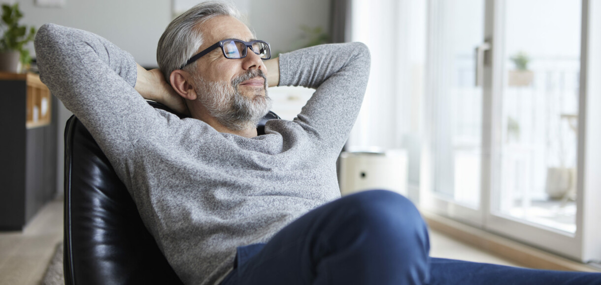 Portrait of mature man relaxing at home