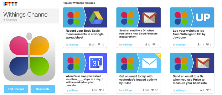 ifttt withings health mate