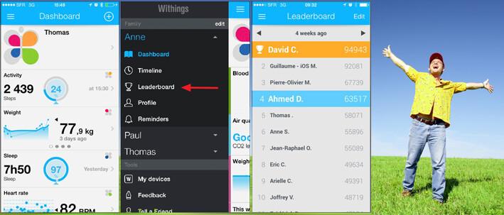leaderboard withings