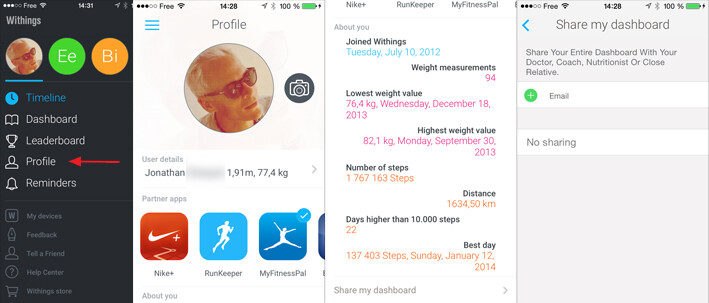 profile view health mate