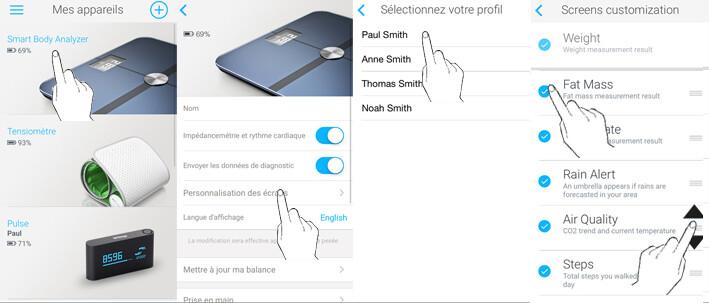 customisation-écrans-balances-withings''