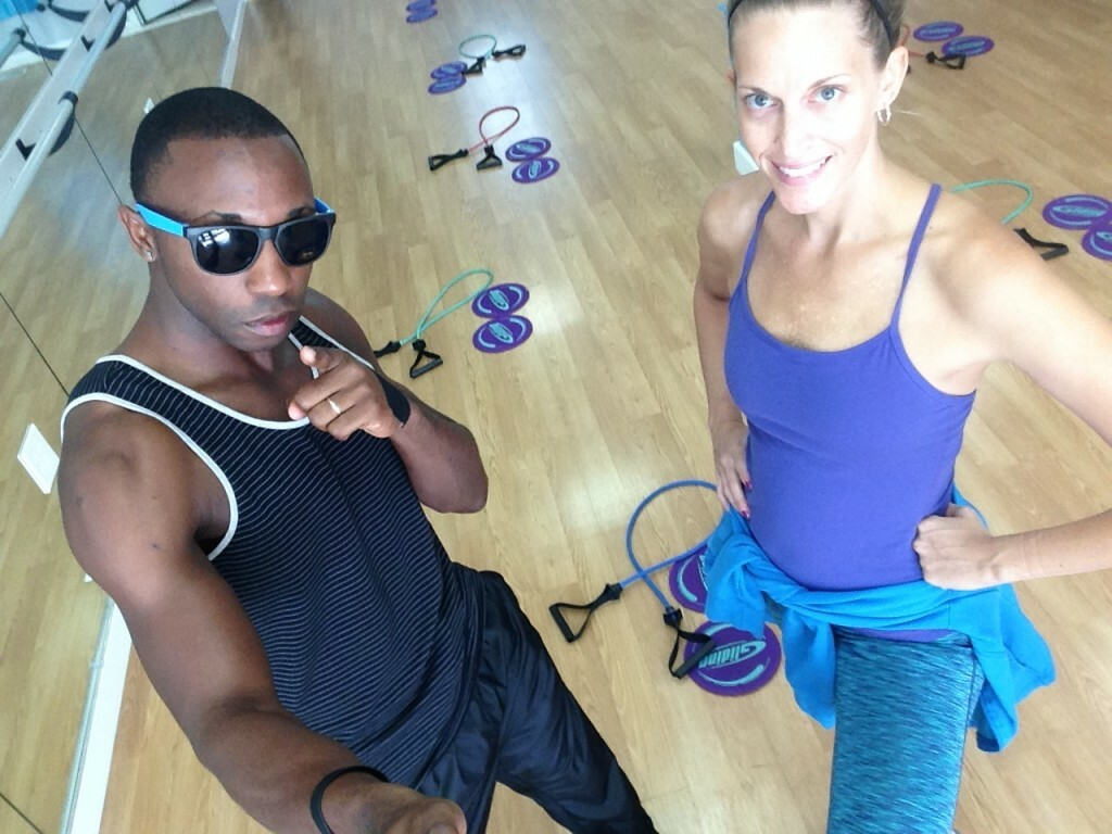 Melissa & Teno work together to keep the studio rolling