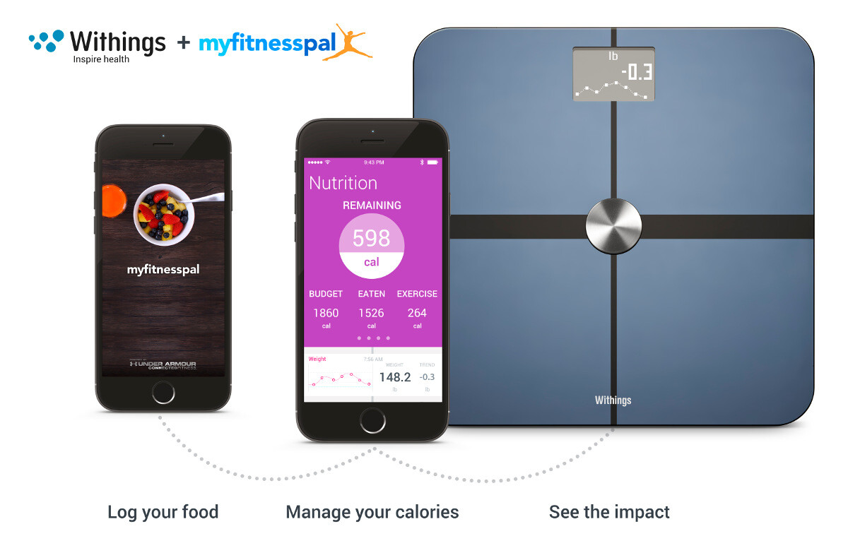 Health Mate Features Nutrition Tracking Via MyFitnessPal