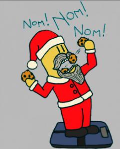 holiday weight gain santa