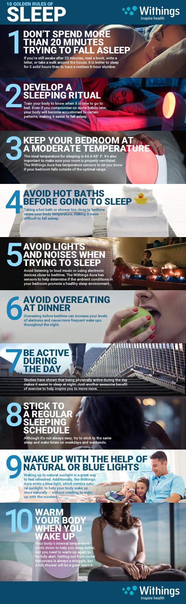 10 Ways to a better night's sleep